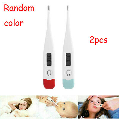 2pcs Digital LCD Thermometer Heating Fever Temperature Baby Body Adult Tester