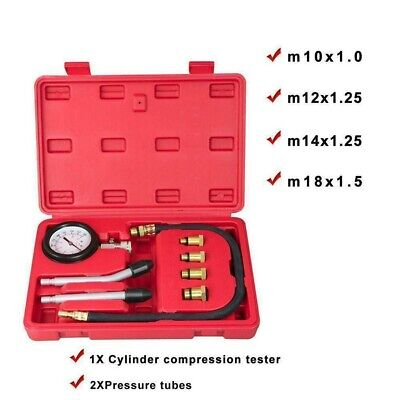 Petrol Engine Compression Tester Car Motor Auto Gas Cylinder Pressure Gauge Kit