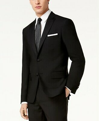 $525 DKNY Dabney Slim-Fit Black Tuxedo Suit Jacket Mens 38S 38 NEW