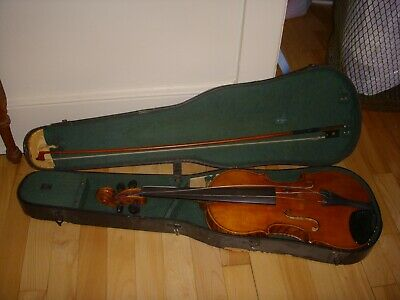 Antique C Denneny Violin w/ Bow In Case
