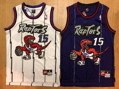 #15 Vince Carter Men's Toronto Raptors Throwback Swingman Purple / White Jersey