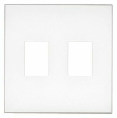 Lutron Dimmer/Switch Wall Plate,  White,  Number of Gangs 2,  Weather Resistant