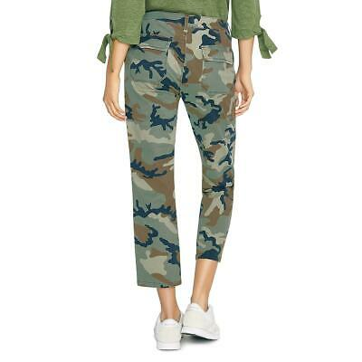 Sanctuary Womens Green Camouflage Cropped Mid-Rise Chino Pants 29 BHFO 4172