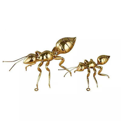 1pcs Fine Chinese Collection Curio Brass Carefully carved Insect Ants Statues