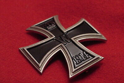 "GERMAN WWI IMPERIAL / PRUSSIAN IRON CROSS 1st CLASS - ""NICKEL SILVER"" - VAULTED"
