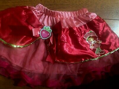 girls STRAWBERRY TUTU SKIRT dress up HALLOWEEN COSTUME pink red one size 3t 4t 5