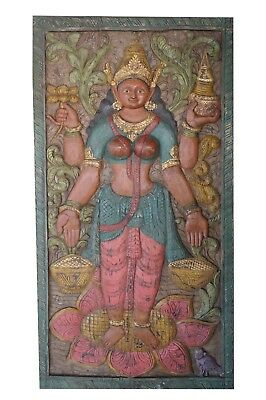 Vintage Barn Door Wall Sculpture Lakshmi Goddess Yoga Decor  Wall Art CLEARANCE