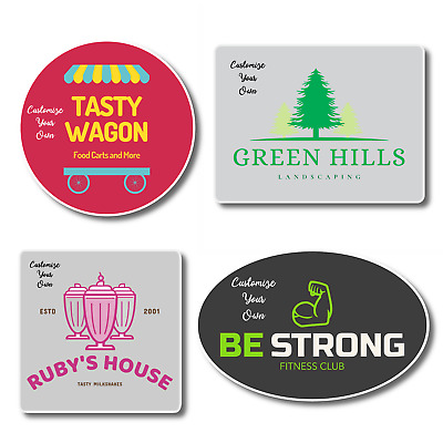 Custom Personalized Vinyl Picture Logo Stickers Labels for Business | instMerch