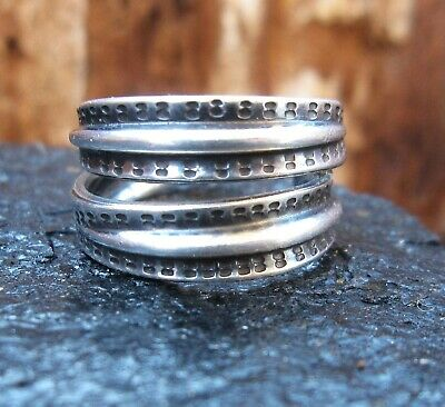 David Andersen Sterling Silver Saga Viking Ring, Norway/Norwegian