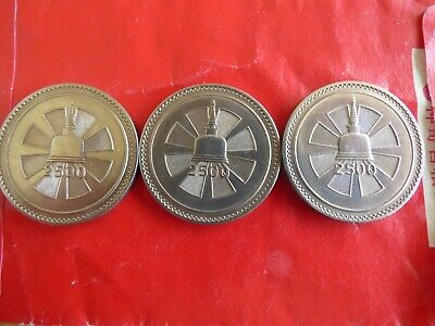 3 X 1957 - 2500th Anniversary of Buddhism CEYLON / SRI LANKA ONE RUPEE COINS