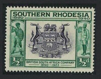 S. Rhodesia British South Africa Coats of Arms ½p MNH SG#53