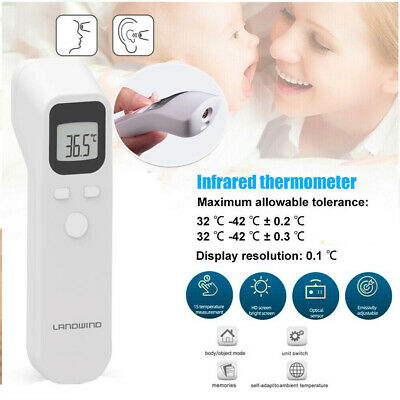 2 IN 1 Hospital Medical Grade Infrared Temporal Forehead Thermometer Digital LCD