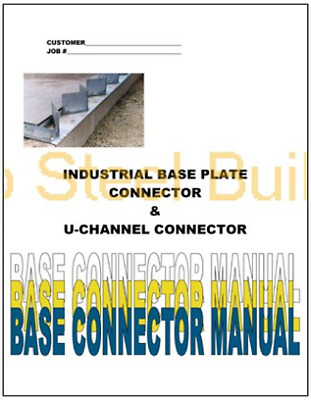 Duro Steel Industrial Base Plate Metal Arch Building Foundation Connector Manual