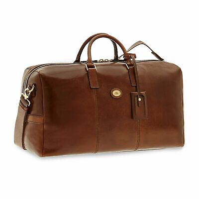Travel bag The Bridge Story viaggio 07413501 duffle luggage in brown leather new