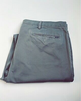 "Ralph Lauren Mens Stretch Classic Fit Chino Trousers W 42T/ L36""Grey  Pant"