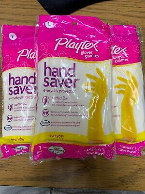 Pack of 3 Playtex Gloves Living Premium Protection Large 1 Pair