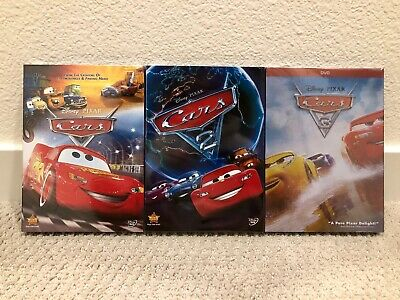Cars 1, Cars 2, and Cars 3 Trilogy Brand New 3 DVD Bundle Includes Free Shipping