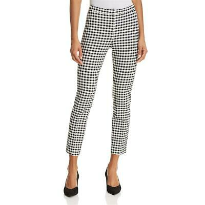 Theory Womens B/W Gingham High Rise Workwear Skinny Pants Trousers 2 BHFO 2749