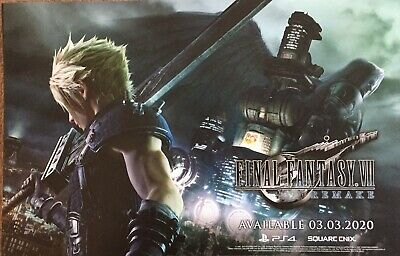 2019 SDCC FINAL FANTASY VII REMAKE Square Enix DS FF7 Poster - Cloud & Sephiroth