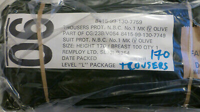 British Army NBC Trousers. Part Of A Protection Suit. Green. Size 170. Sealed.