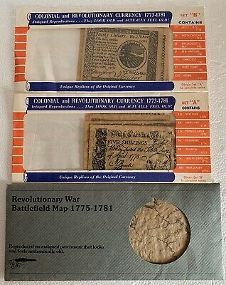 1778-81 USA uniface Colonial /& Revolutionary Set B currency reproduction 7 diff
