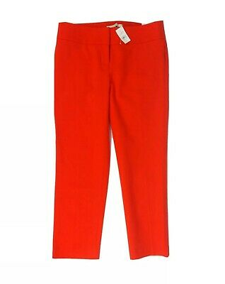 New Ann Taylor Loft Red Marisa Modern Fit Slim Ankle Pants Womens Size 4