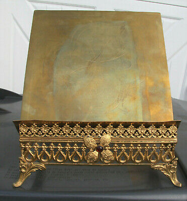 antique vintage  BRASS Bible stand ***BEAUTIFUL***