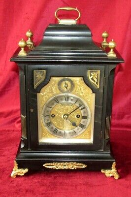 Nice English Double Fusee Bracket Clock