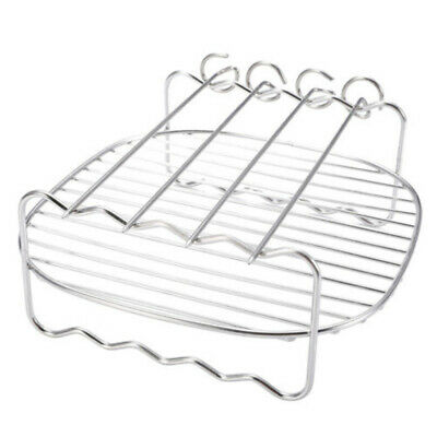 Grill + Broches pour Philips Air Friteuse 8'' 2-Layer Cuisine Acier Inoxydable