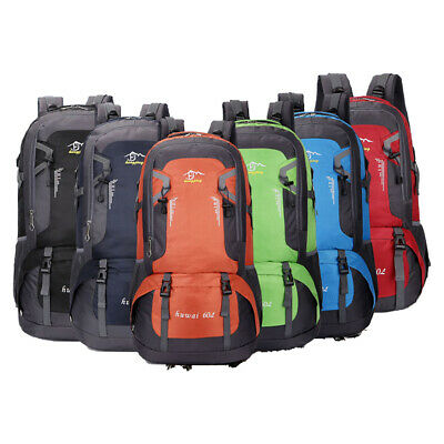 Outdoor Camping Backpack Rucksack Travel Climbing Hiking Day Packs Trekking 60L