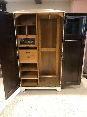 Mid Century Wardrobe With Drawers And Lock/key