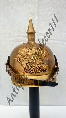 Lot of 10 Pcs Medieval greek german fireman helmet with leather liner halloween