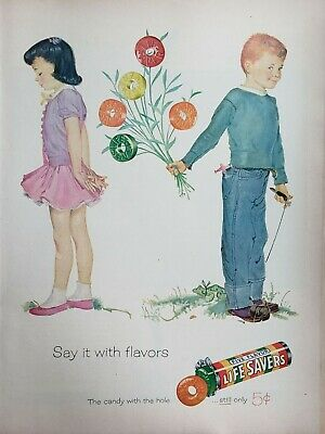 Lot of 3 Vintage 1956 Life Savers Candy Ads
