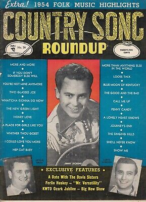 Country Song RoundUp Magazine -- 1955 , #36 , Jimmy Dickens , Round Up