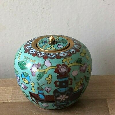 Lovely Vintage Chinese Cloisonne Small Jar
