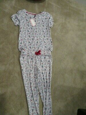 Dachshund Dog Lt. Gray Red Hearts Sleepwear Pajama Pants Top Size S~M~L~XL NWT