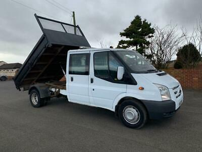 2013 62 Reg Ford Transit 100 T350 Double Cab 10 Ft Tipper 2.2 Tdci Diesel