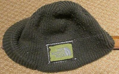 "North Face Beanie Older Style ""Flip Billy"" Olive Brim Unisex - A6W7 - One Size"
