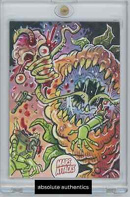 2020 Mars Attacks Uprising 1/1 Ack Ack Sketch by Tim Shinn Autograph Art Card