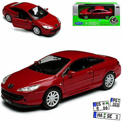 Peugeot 407 Coupe Silber Tuning 2004-2011 1//43 Motormax Modell Auto mit oder o..