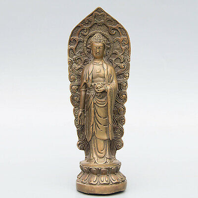 Collect Qianlong China Old Copper Hand-Carved Kwan-Yin Exorcist Buddhism Statue