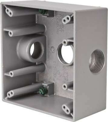 Cooper Two Gang Weatherproof Aluminum Outlet Box TP7090