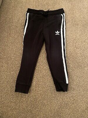 Adidas Boys Black Tracksuit Bottoms/Joggers Aged 3-4 Years