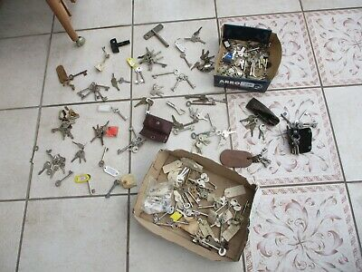 Large Job Lot Of Door Lock Cupboard Clock Keys Vintage Old Modern Unusual