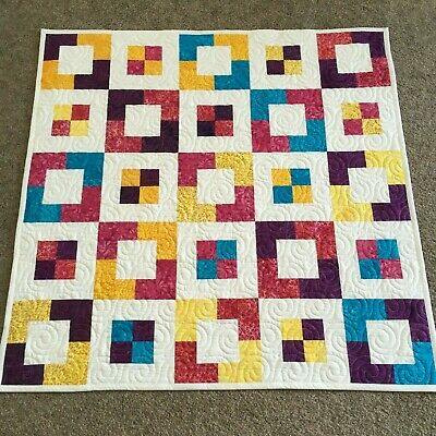 Handmade Baby or Toddler Quilt-Batik Butterflies