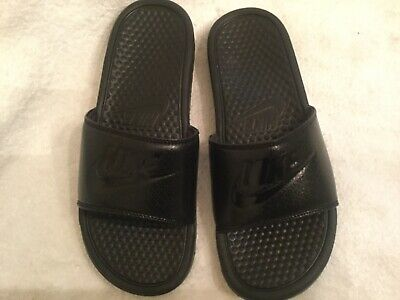New Nike BENASSI JDI Mens Black/Black-Black 343880-001 Slide Sandals