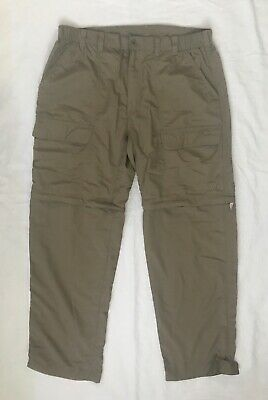 WHITE SIERRA Olive Green Convertible Zip-off Cargo Pants Shorts Womens Size L