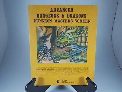 ADVANCED DUNGEONS & DRAGONS, DUNGEON MASTERS SCREEN, 4th PRINT VARIANT, 1980, TS