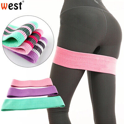 Resistance Band Exercise Fabric Loop Yoga Bands Home Gym Fitness Non Slip Home