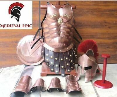 Medieval Knight Spartan Full Suit Of Armor With Muscle Jacket/Helmet/Shield II